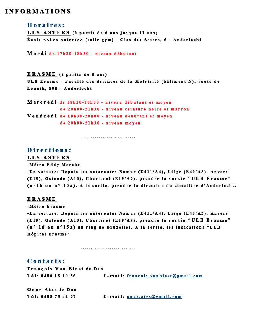 Texte informations